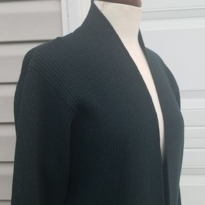 EILEEN FISHER Open Front Cardigan Green Wool S
